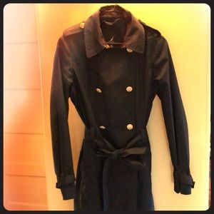 Dark navy Nautical trench coat